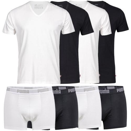 ebay WOW: Puma 4er Pack T-Shirts (V-Ausschnitt oder Rundhals) oder Boxershorts S bis XL nur 24,99€ inkl. Versand