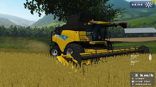 New Holland CR 9060 + Cutter