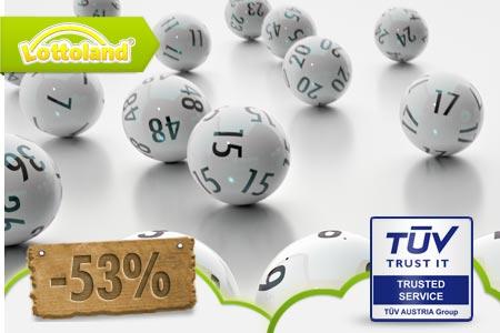 Groupon: Tippschein beim Lotto über lottoland.com - Lotto 6 aus 49: 1 Feld nur 49 Cent oder 12 Felder für 4,49€ oder EuroJackpot: 1 Feld für 99 Cent oder 5 Felder für 5,99€