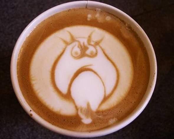 Coffee art - rysowanie na kawie 24