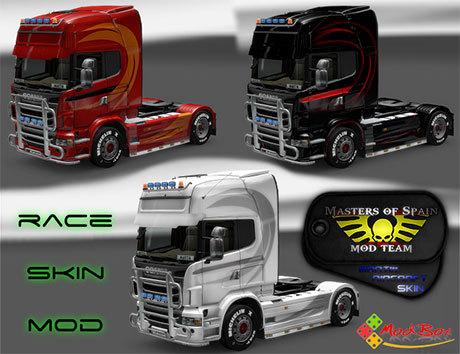 [ETS2] Race style Scania skins Racea5u5q