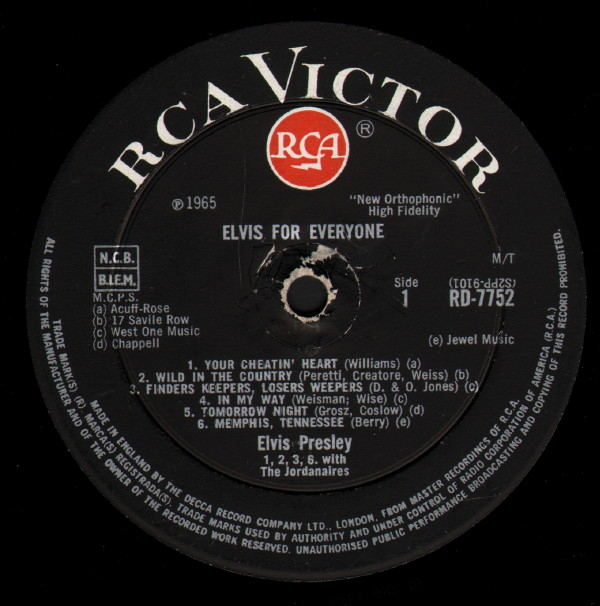 ELVIS FOR EVERYONE Rd-7752-1d8uj0