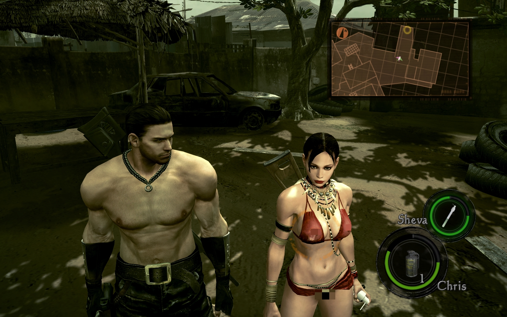 Re5 sheva skins hentai clips