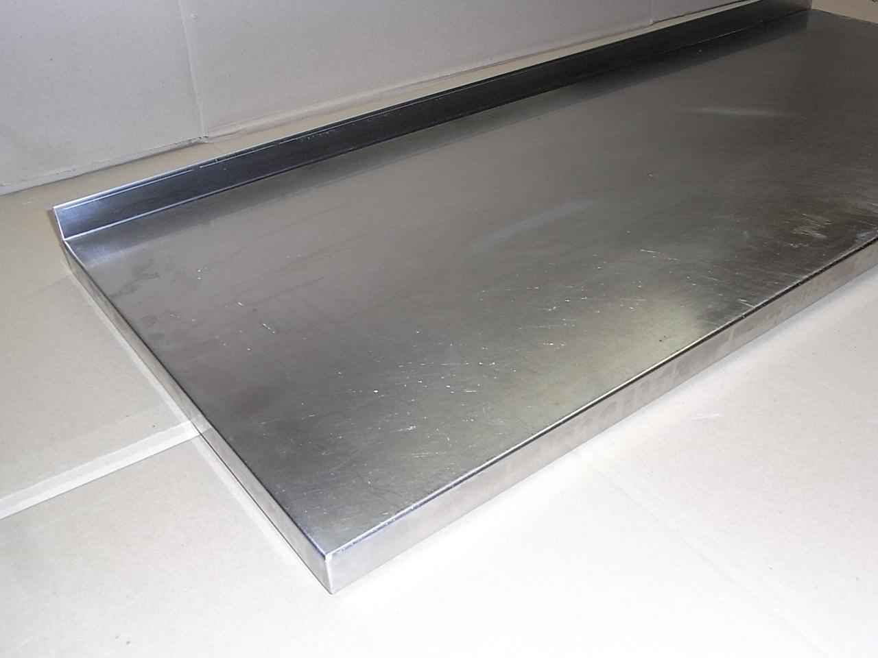 edelstahl arbeitsplatte mit aufkantung anrichtplatte edelstahlplatte 100 x 40 cm ebay. Black Bedroom Furniture Sets. Home Design Ideas