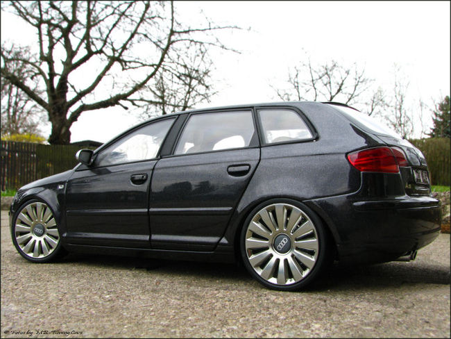 1 18 tuning audi a3 s3 sportback mit s8 alu pvc felgen. Black Bedroom Furniture Sets. Home Design Ideas
