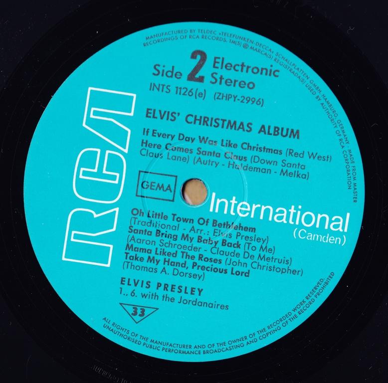 ELVIS' CHRISTMAS ALBUM (1970) Scan10j7jap