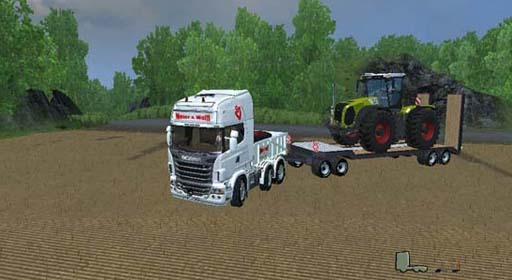 scaniar730sv and traidgppd Scania R730SV and trailer v 1.0 [MP]