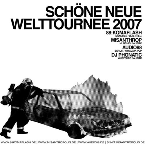 Cover: 88 Komaflash Misanthrop Audio88 DJ Phonatic - Schoene Neue Welttournee 2007-Split_EP-DE-2007-NOiR