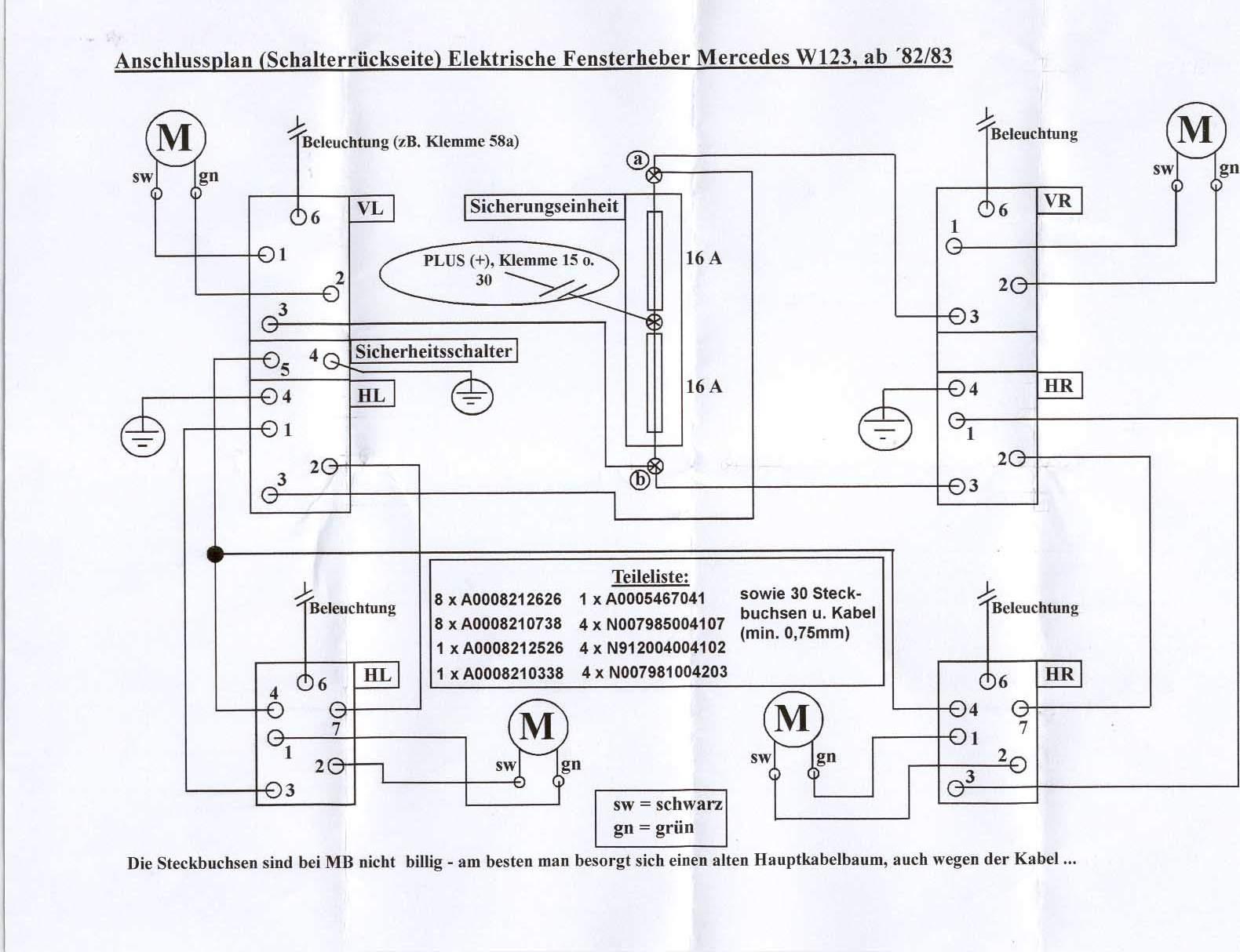 Fantastisch Schaltplan Für Den Fensterheber Ideen - Der Schaltplan ...