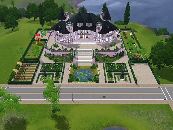 Vorstellung schloss sims das gro e sims 3 forum von for Sims 4 dach bauen