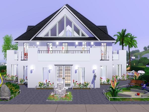 Weiße villa - Das große Sims 3 Forum von und für Fans