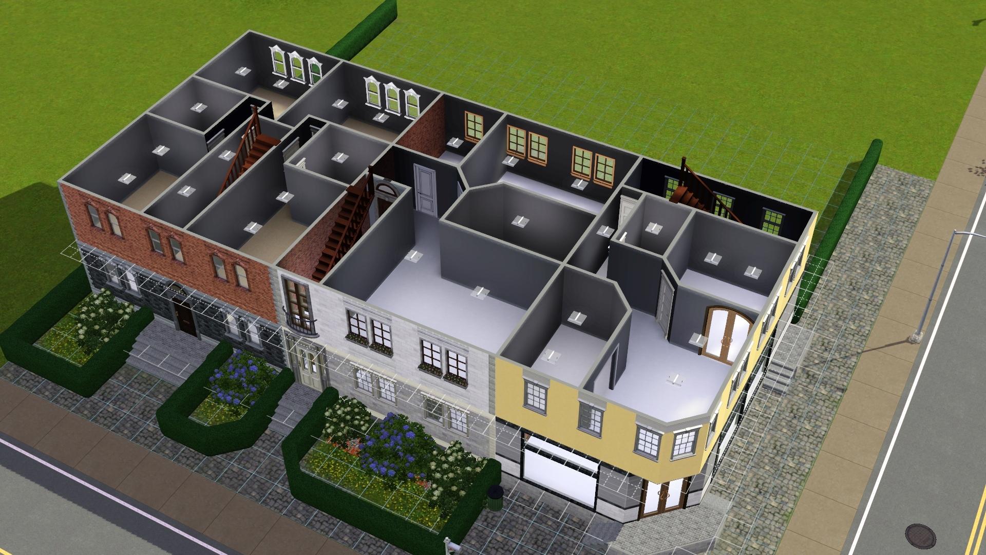 Sims 3 häuser von innen wohnzimmer  Vorstellung) Deutsche/Europäische Stadthäuser - Das große Sims 3 ...
