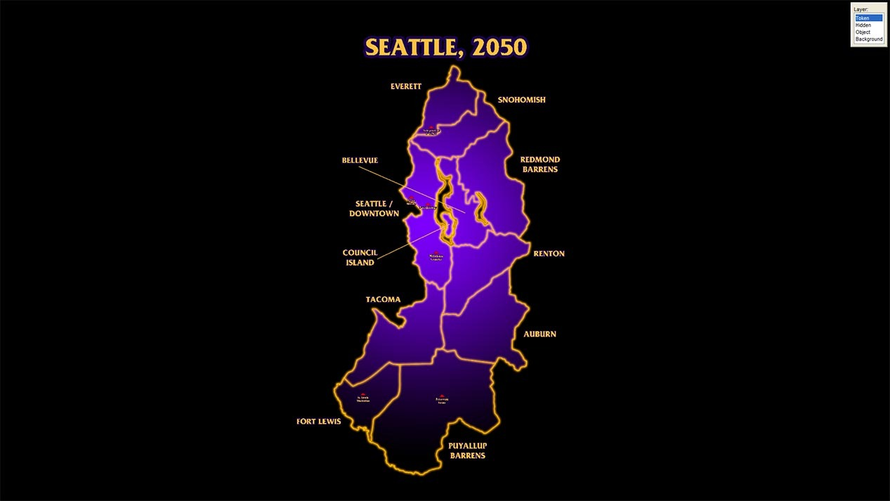 Map Of Seattle Shadowrun