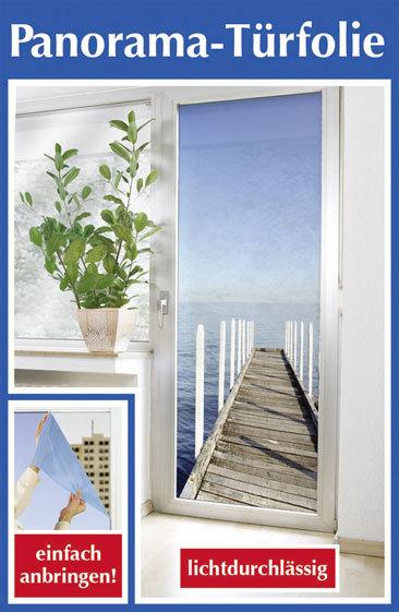 t rfolie sichtschutz seeblick t rtapete 85x200 wenko f r balkont r terrassent r ebay. Black Bedroom Furniture Sets. Home Design Ideas