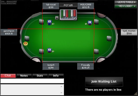 Server poker software