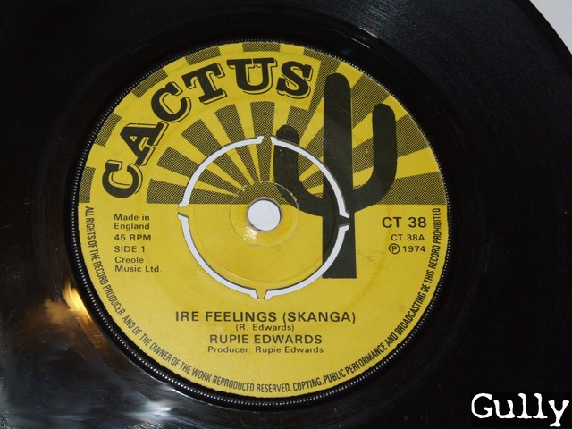 Cover: Rupie Edwards - Ire Feelings (Skanga)(7 Inch CT38)-VLS-1974-Gully