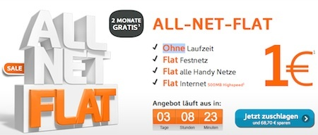 Simyo Allnet-Flat 2 Monate kostenlos