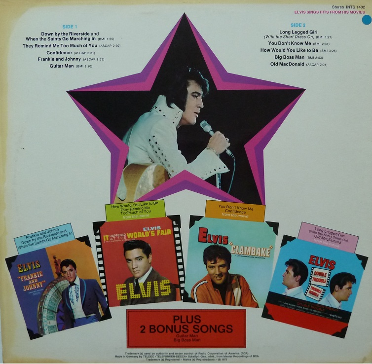 ELVIS SINGS HITS FROM HIS MOVIES-VOLUME 1 Singshitsfrom72rcksei31jbf