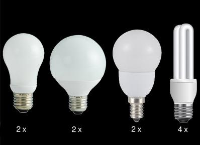10er-Set Energiesparlampen