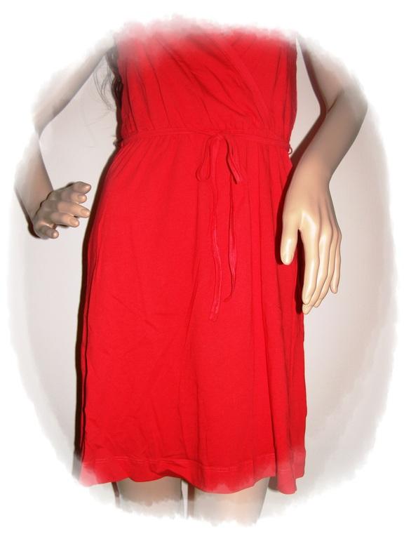 Sommerkleid kleid in wickeloptik wickelkleid xs xl knallig rot neu