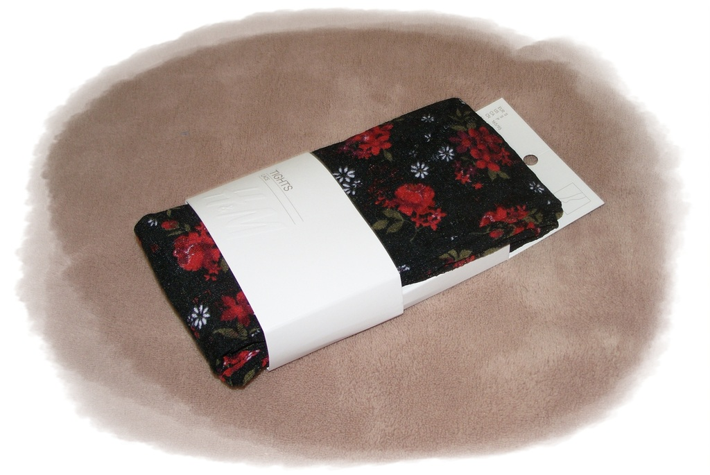 h m strumpfhose tights aus spitze rosen blumen s m l ebay. Black Bedroom Furniture Sets. Home Design Ideas