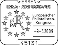 Internationalen Briefmarken-Messe in Essen vom 6. bis 10. Mai Sstfepakongress92dq