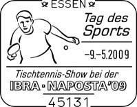 Internationalen Briefmarken-Messe in Essen vom 6. bis 10. Mai Ssttagdessportsg1lb