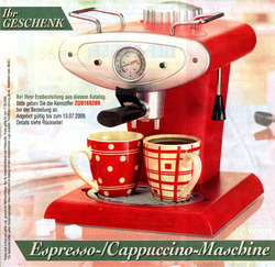 Gratis Cappuccinoautomat