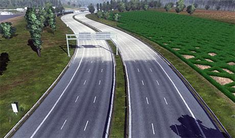 Shorter road stripes