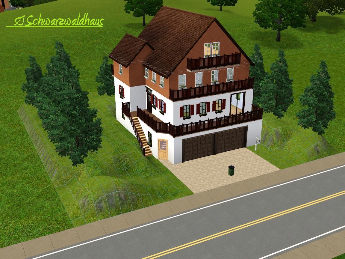 Grundriss villa sims 2  Bauauftrag] Haus im Schwarzwald-Stil - Das große Sims 3 Forum von ...
