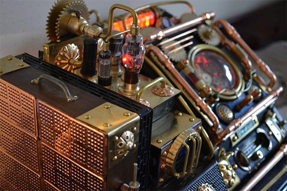 Komputer w stylu steampunk 3