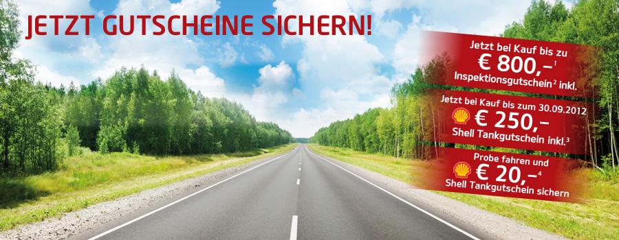 KIA: 20€ Shell Tankgutschein erhalten bei Probefahrt mit einem Kia Neuwagen!