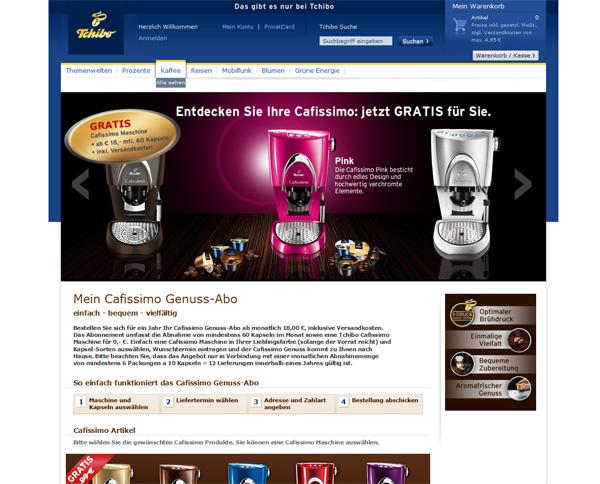 tchibo coffeetainment genussabo im check kaffee espresso. Black Bedroom Furniture Sets. Home Design Ideas