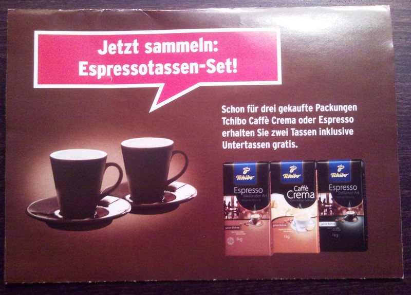 tchibo espressotassen set gratis zum espresso bzw caff creme kaffee espresso trinken blog. Black Bedroom Furniture Sets. Home Design Ideas