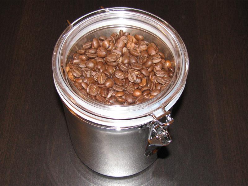 Tchibo Kaffee Vorratsdose aus Edelstahl
