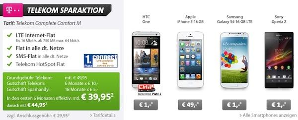 telekom complete m vertrag mit smartphone 44 95 euro monat best of deals. Black Bedroom Furniture Sets. Home Design Ideas