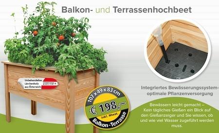 Terrassenhochbeet mit Bewässerung
