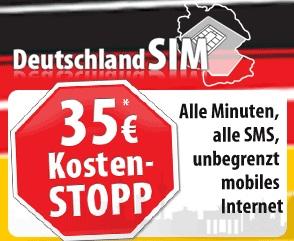 DeutschlandSIM Anzeige