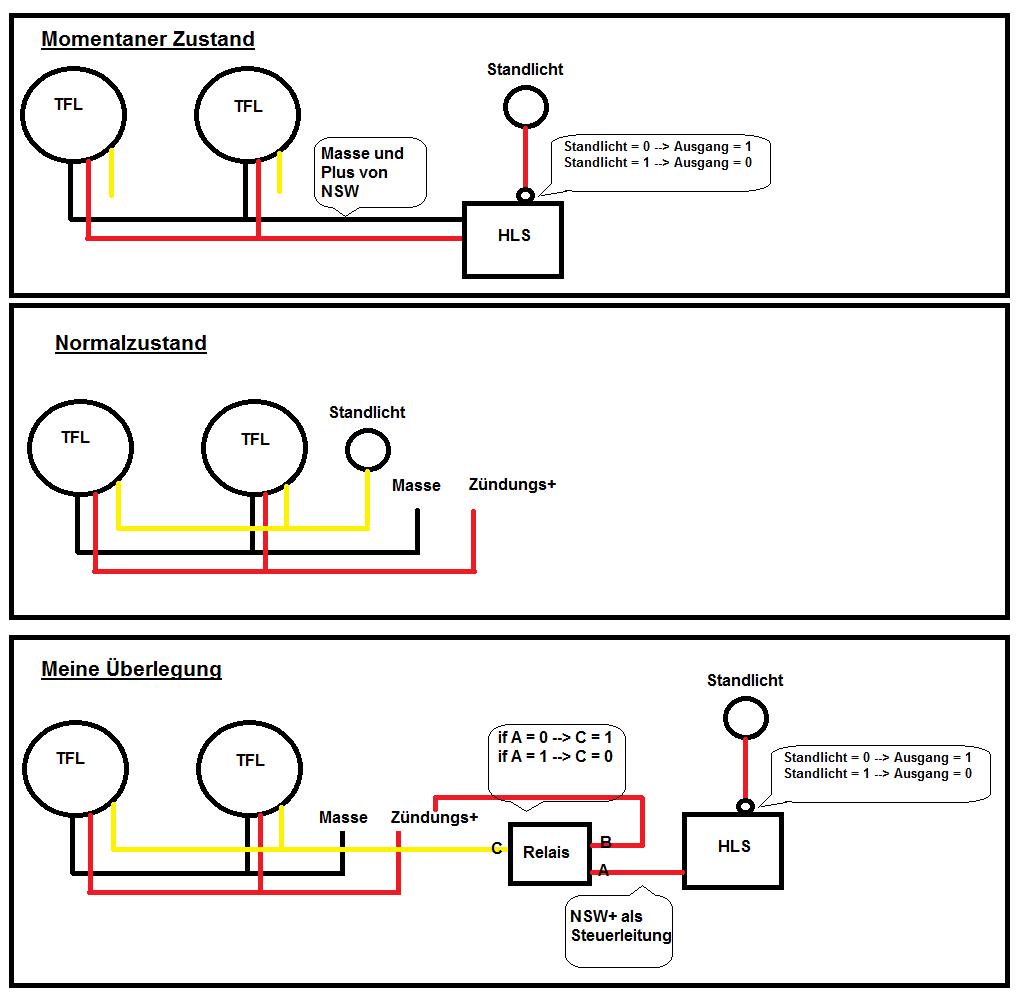 TFL Schaltung mit Relais so möglich? • www.ledhilfe.de - LED Forum