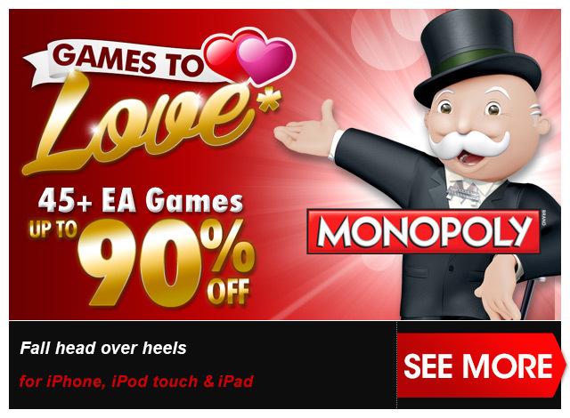 iTunes: versch. EA Spiele für iOS für nur 89 Cent! - Monopoly, Tetris, Need for Speed, Spiel des Lebens usw..