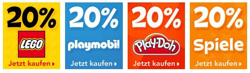 toys'r'us: 20% Rabatt auf Lego, Playmobil, Play-Do und weitere Spielwaren!