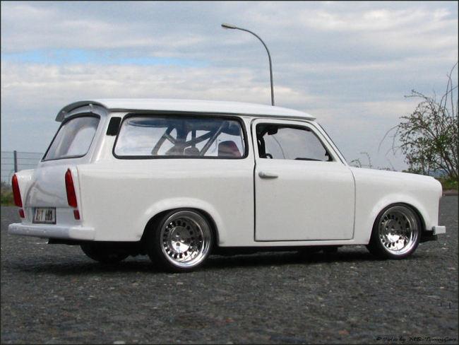 1 18 tuning trabant 601 kombi mit 14 th line echtalu s ebay. Black Bedroom Furniture Sets. Home Design Ideas
