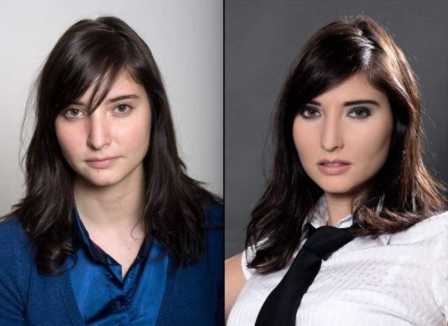 Ile zmienia dobry makijaż? 18