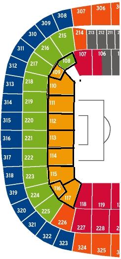 Allianz arena osttribüne mittelrang kat 1