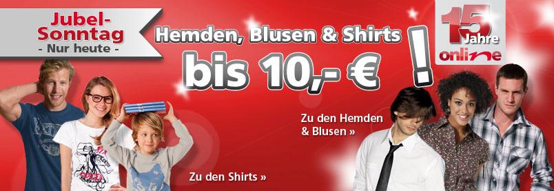 neckermann t shirts blusen und hemden unter 10 euro beim jubelsonntag. Black Bedroom Furniture Sets. Home Design Ideas