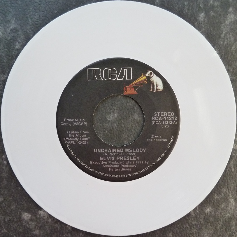 vinyl - Unchained Melody / Softly, As I Leave You (Special Limited Edition - White Vinyl) Unchainedcanadaside134e42