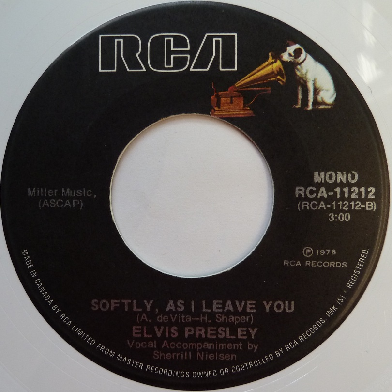 vinyl - Unchained Melody / Softly, As I Leave You (Special Limited Edition - White Vinyl) Unchainedcanadaside2lwqc62