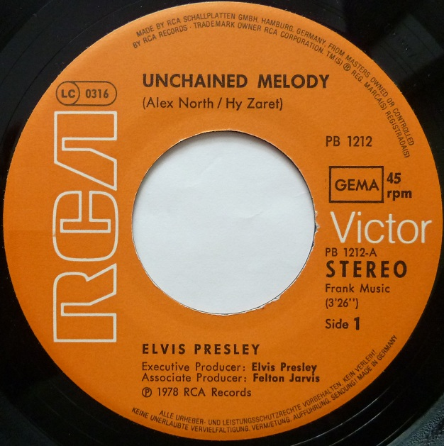 Unchained Melody / Softly, As I Leave You Unchainedside1oz7x3