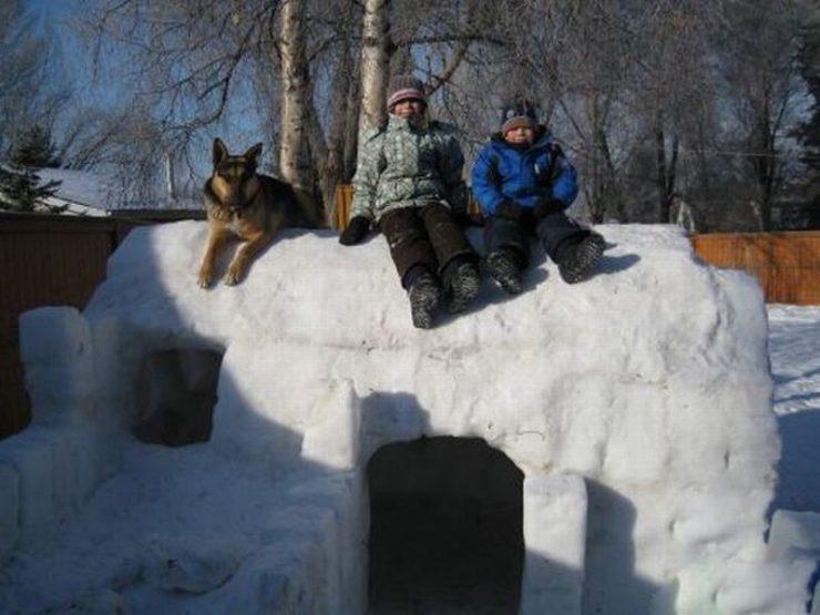 Śniegowe budowle 11