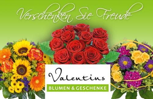 qypedeals: 13€ Gutschein für den Blumenversand valentins.de für nur 6€!! Blumensträuße!